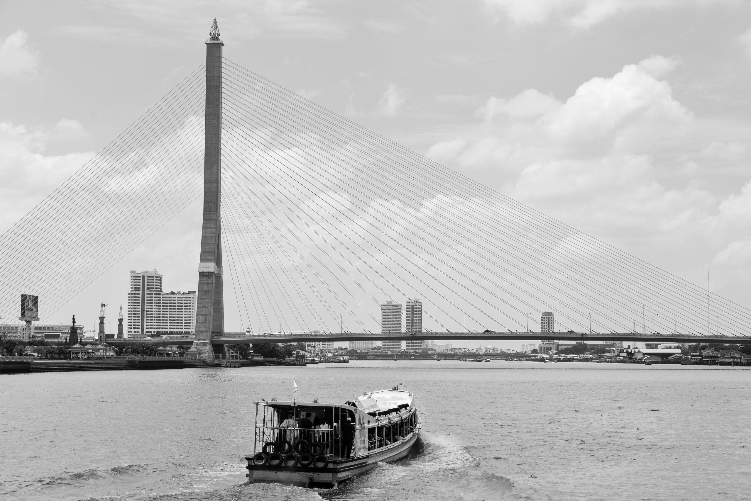 Rama VIII Bridge, Bangkok, Thailand, Asia