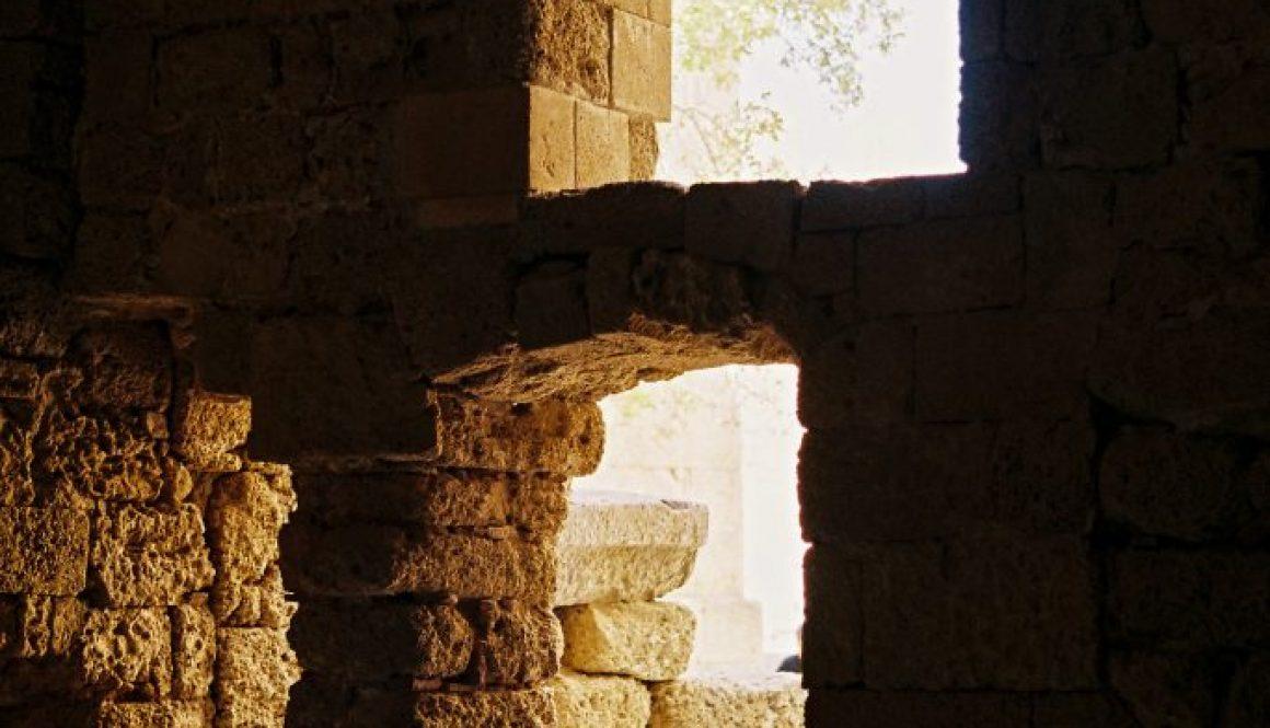 Archokrateion, Lindos, Rhodes, Greece, Europe