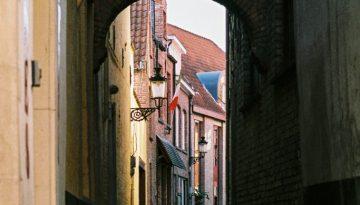 Alleyway, Brugge, Belgium, Europe