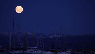 Ushuaia Bay, Tierra del Fuego, Argentina, South America