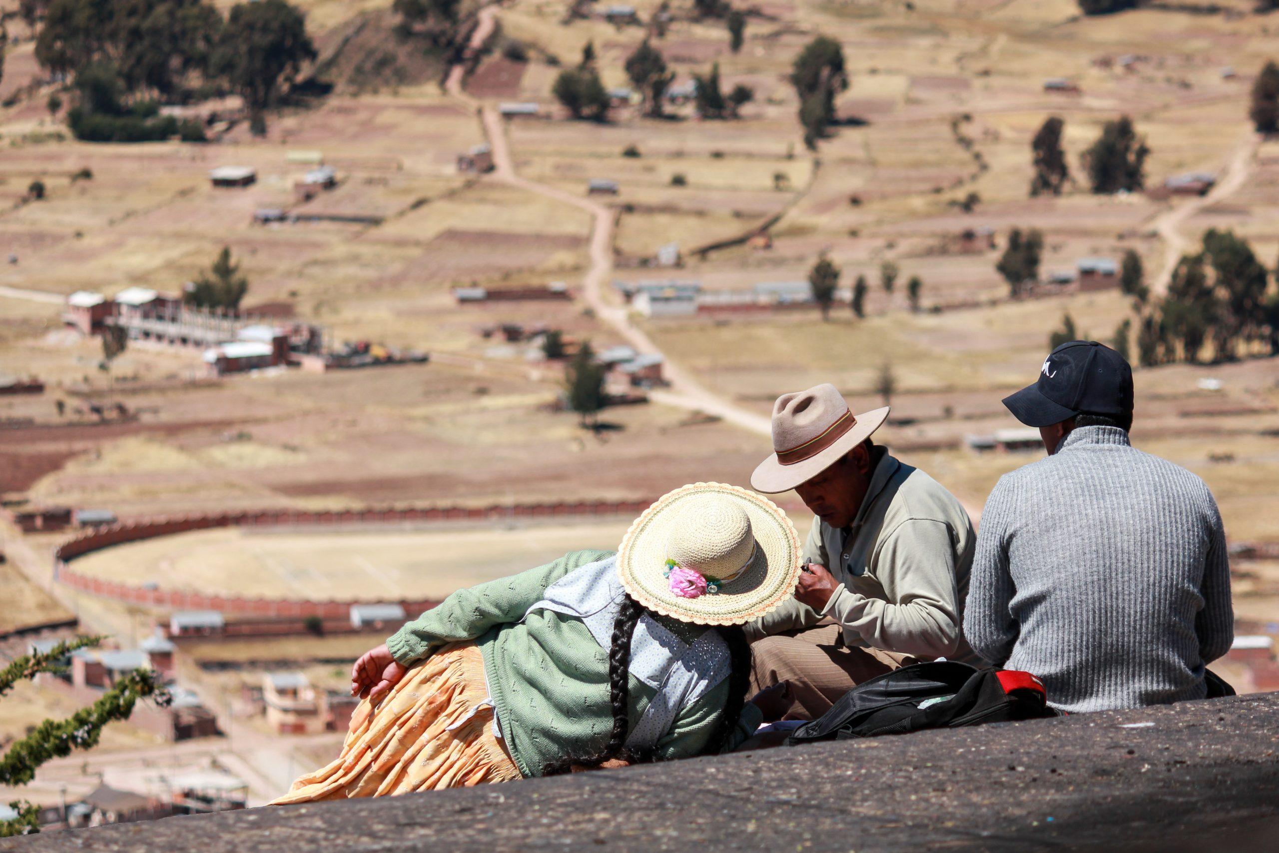 Cerro Calvario, Copacabana, Lake Titicaca, Bolivia, South America